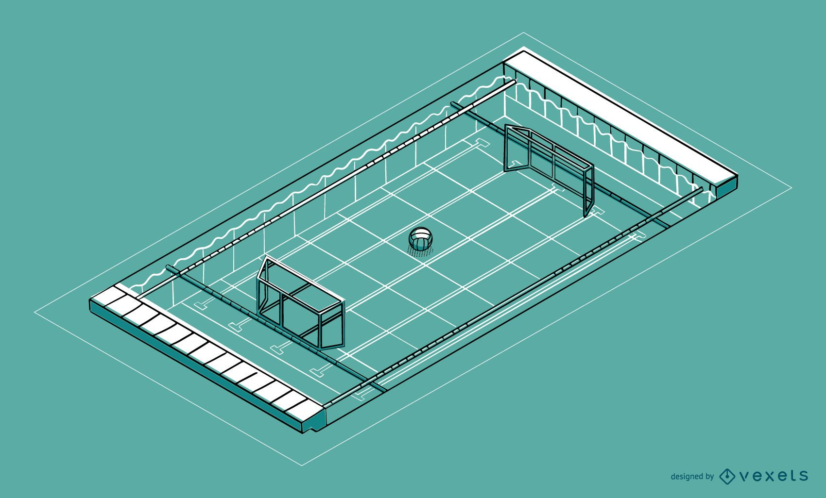 Isometric Water Polo Pool Design