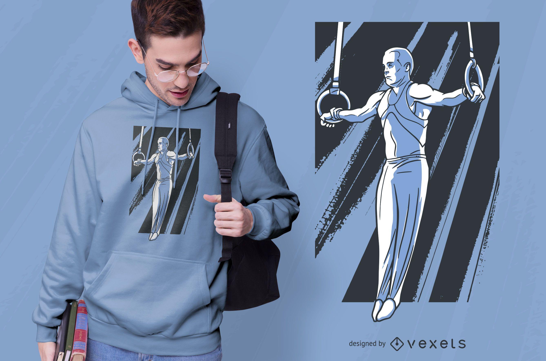 Diseño de camiseta Iron Cross Gymnast