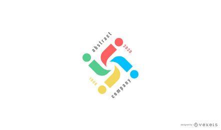 Modelo de logotipo abstrato e colorido
