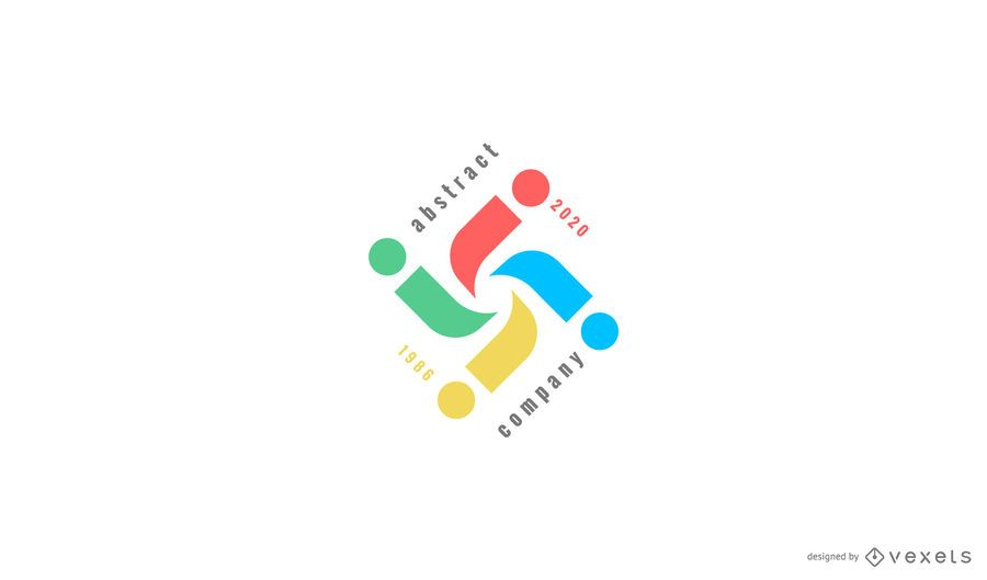 Abstract and colorful logo template