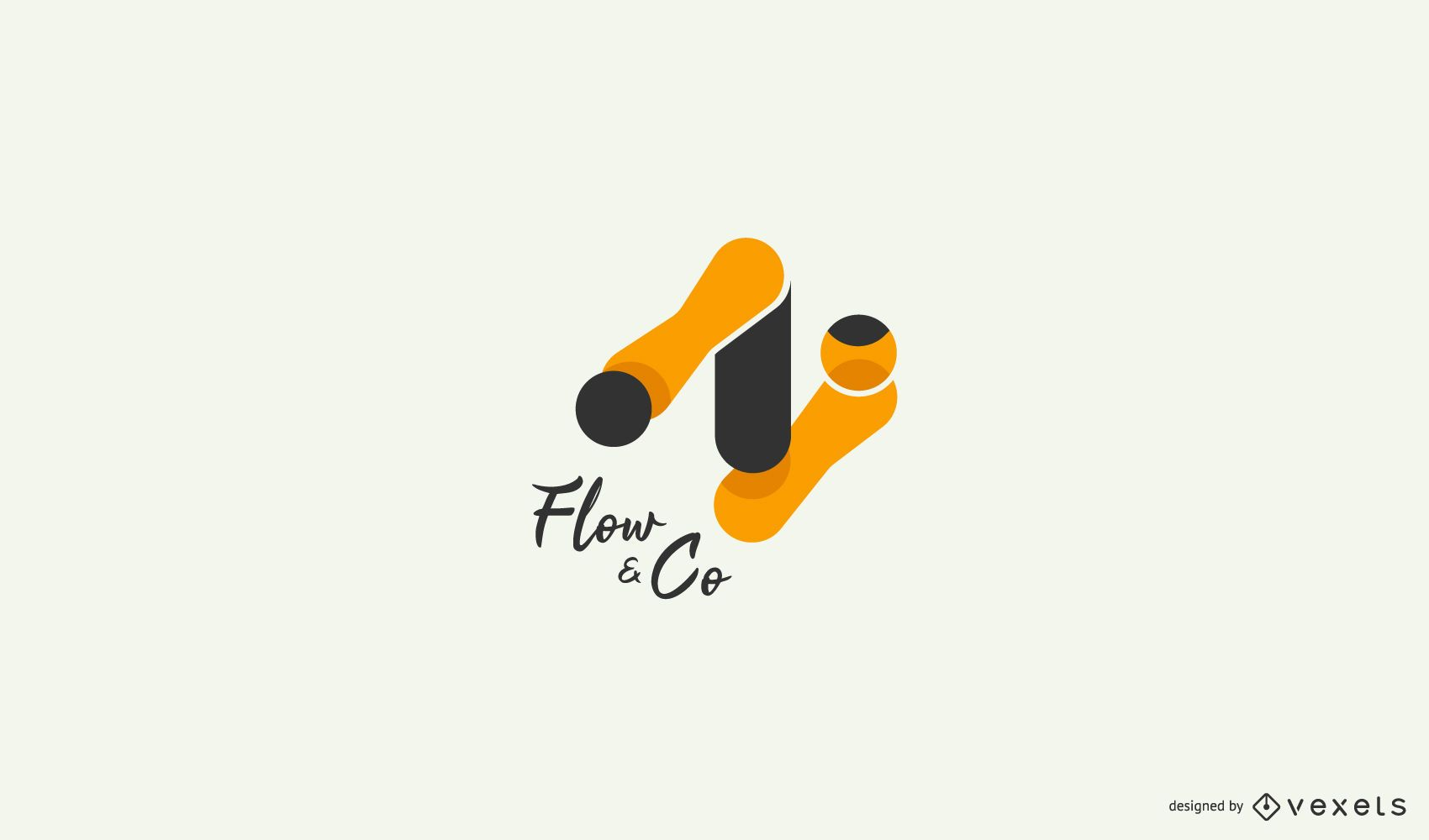 Abstract flow logo template