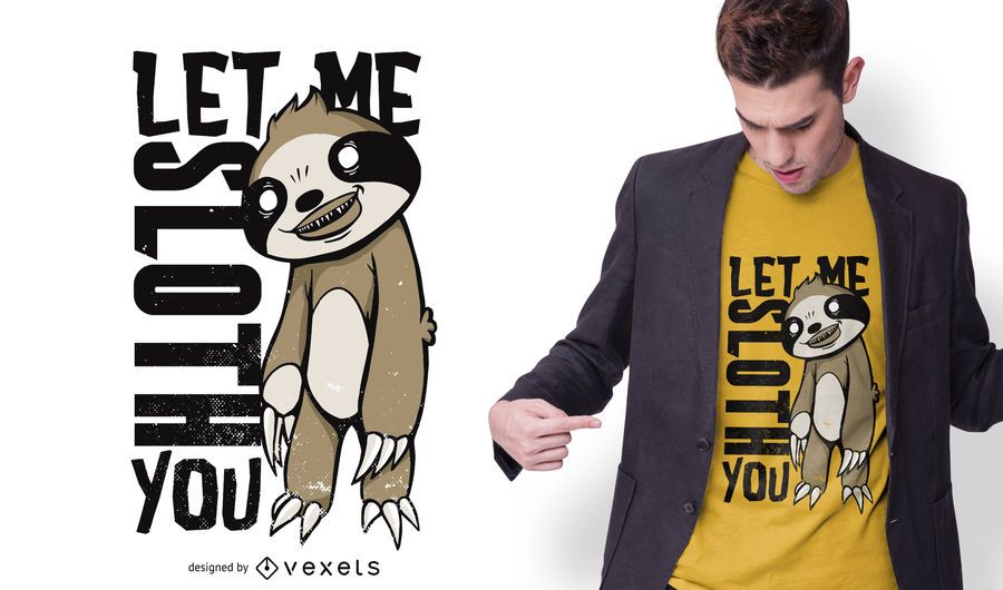 Creepy Sloth T-shirt Design