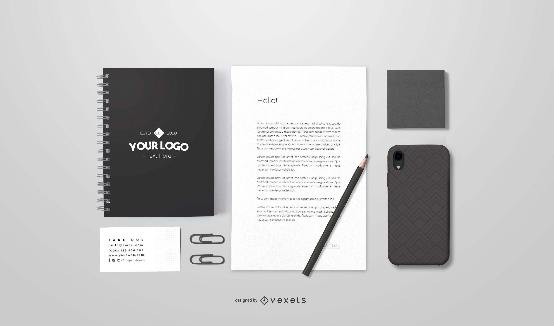 Branding stationery mockup design