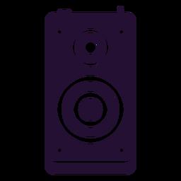90s speaker silhouette