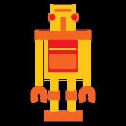 Flacher Retro Roboter