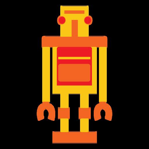 Robot retro plano Transparent PNG