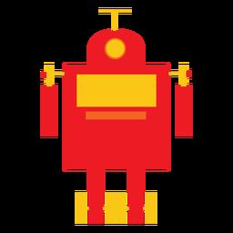 Retro robot flat