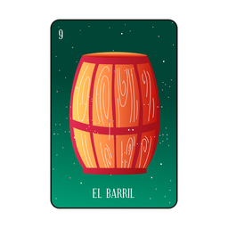 Barrel card loteria