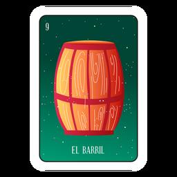Loteria de cartão de barril
