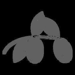 Berries silhouette