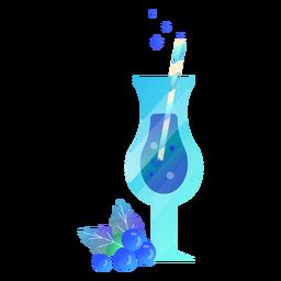 Berry juice illustration