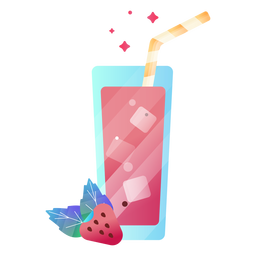 Berry juice illustration strawberry