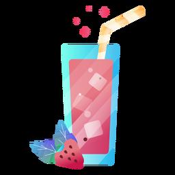Ilustración de jugo de baya fresa