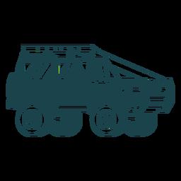 Jeep mit großen Rädern