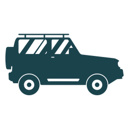 Jipe com vista lateral de rodas grandes
