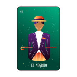 Black gentleman loteria card