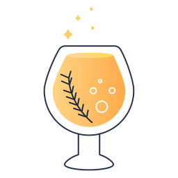 Bubbly drink stroke