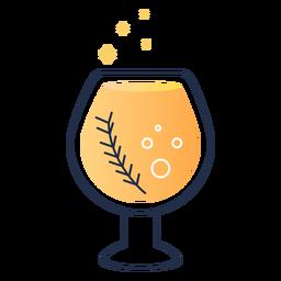 Trazo de bebida burbujeante