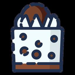 Bolo de chocolate ícone