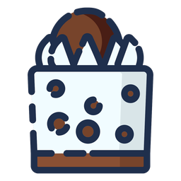 Icono de pastel choco