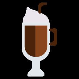 Cappuccino hohes Glas