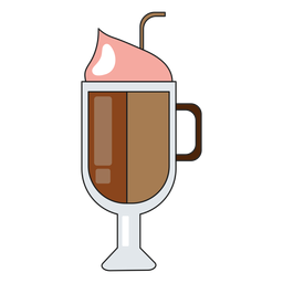 Cappucino glass icon