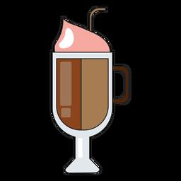 Icono de vaso de capuchino