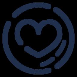 Icono de corazón de capuchino