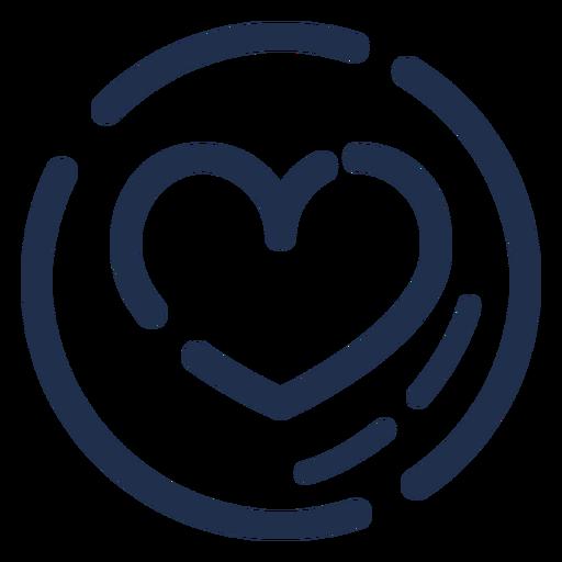 Icono de corazón capuchino Transparent PNG
