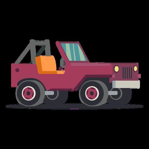 Ilustración de coche jeep Transparent PNG