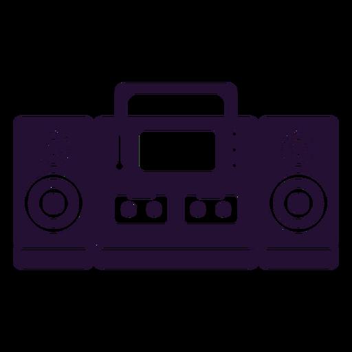Reproductor de cassette 90s Transparent PNG
