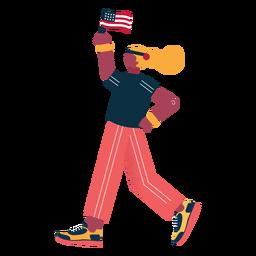 Carácter patriota atleta
