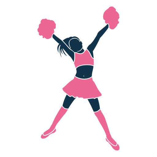 Cheerleader high v pose