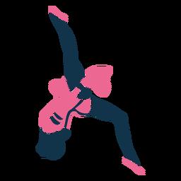 Cheerleader routine silhouette