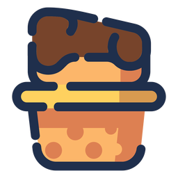 Cheese dessert icon