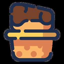 Ícone de sobremesa de queijo
