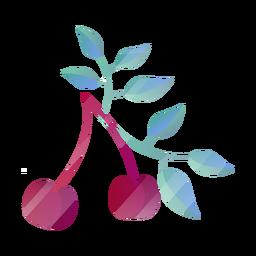 Cerezas con hojas