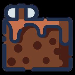 Icono de pastel de choco