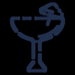 Icono de copa de cóctel