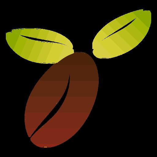 Grano de café plano Transparent PNG