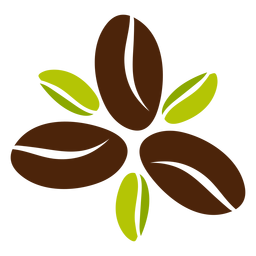 Design de flor de feijão de café