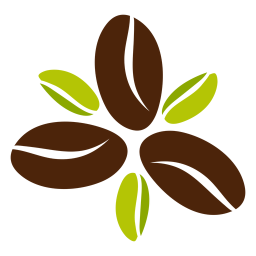 Diseño de flor de grano de café Transparent PNG