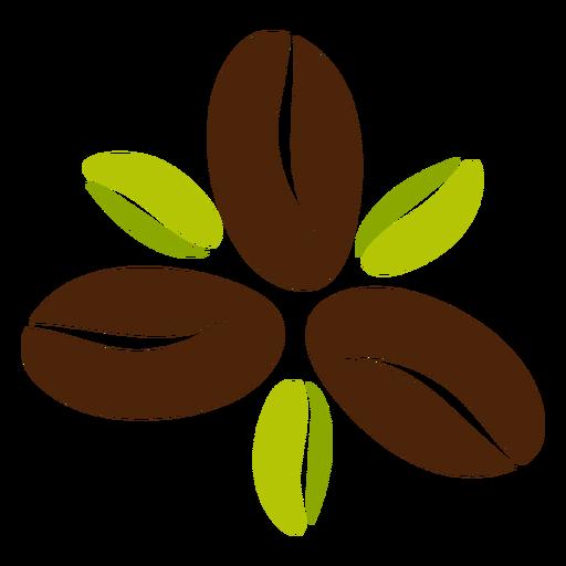 Diseño de flor de grano de café