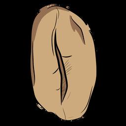 Grano de café dibujado a mano superior
