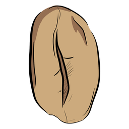 Top dibujado a mano en grano de café