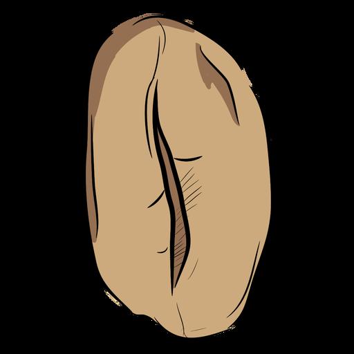 Grano de café dibujado a mano superior Transparent PNG