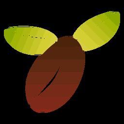 Diseño simple de café en grano