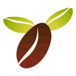 Diseño simple de grano de café