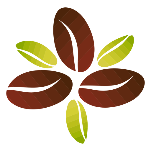Coffee beans flower Transparent PNG