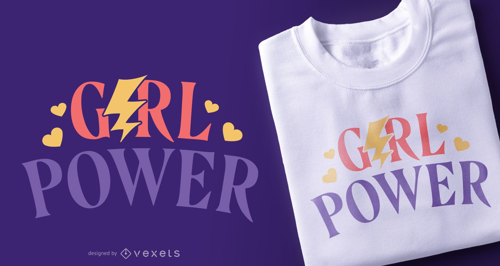 Girl power quote t-shirt design